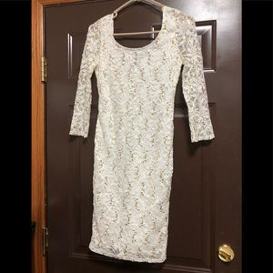 White homecoming/party dress